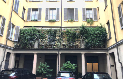 Trilocale con terrazzo Corso Magenta