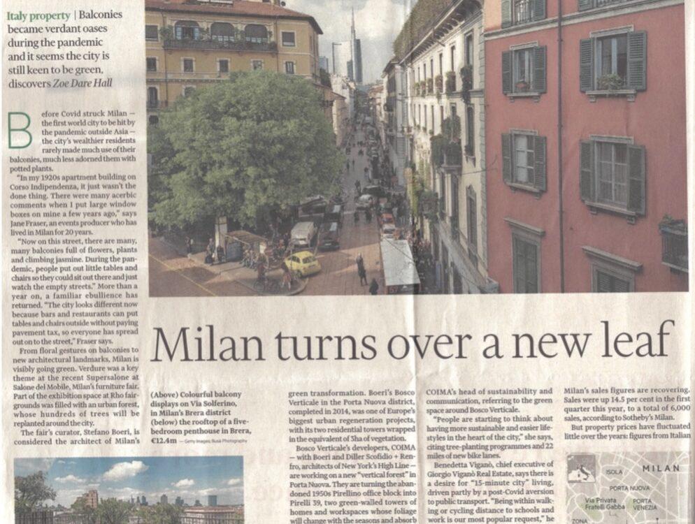"""Milano punta sul """"verde"""""""